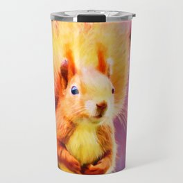 squirrel digital oil paint dopstd Travel Mug