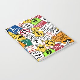 Street Signs Collage Notebook