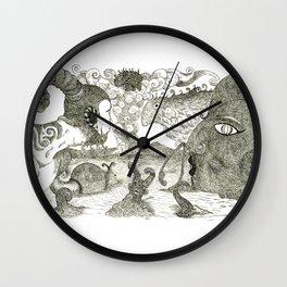 Nonsense Illustration Wall Clock