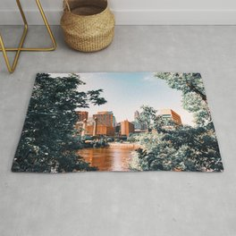 Minneapolis Minnesota Skyline and Architecture Rug