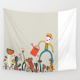 In Flowers Wall Tapestry
