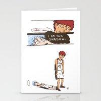 kuroko Stationery Cards featuring Kuroko no Basuke: Kagami's Shadow by meganbarker