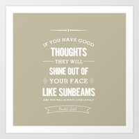 roald dahl Art Prints featuring Roald Dahl quote - stone by Dickens ink.