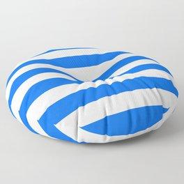 China Blue and White Medium Stripes Floor Pillow