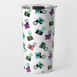 Photography Cameras Pattern Travel Mug