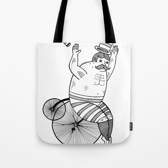 On wild and adventurous Penny-Farthling riders  Tote Bag