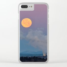 Full Moon Setting at Dawn (1) Clear iPhone Case