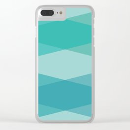 Green diamonds Clear iPhone Case