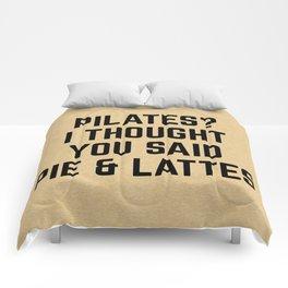 Pie & Lattes Funny Quote Comforters