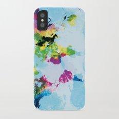 One Colourful World / Blue iPhone X Slim Case