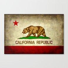California Republic Retro Flag Canvas Print