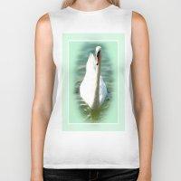 swan queen Biker Tanks featuring Swan by Art-Motiva