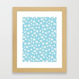Butterflies &  Daisies Framed Art Print