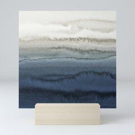 WITHIN THE TIDES - CRUSHING WAVES BLUE Mini Art Print