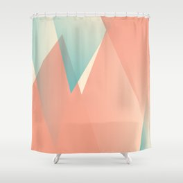 Pastel Peaks Shower Curtain