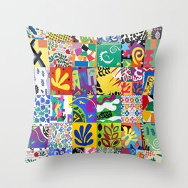 Henri Matisse Montage Throw Pillow