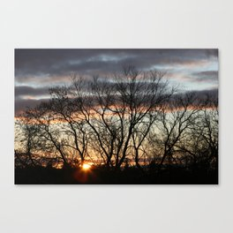 December sunrise Canvas Print