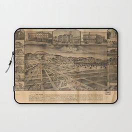 Vintage Bird's Eye Map Illustration - San Jacinto, San Diego County, California (1886) Laptop Sleeve