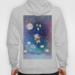 Cute Lil' Space Man - Illustration Hoody