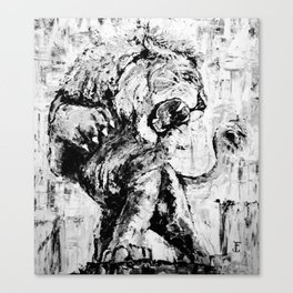 "Carmine the Lion ""Silver Version"" Canvas Print"