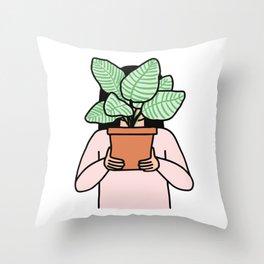 Plant Collector Throw Pillow
