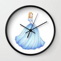 cinderella Wall Clocks featuring Cinderella by Maëlle Rajoelisolo