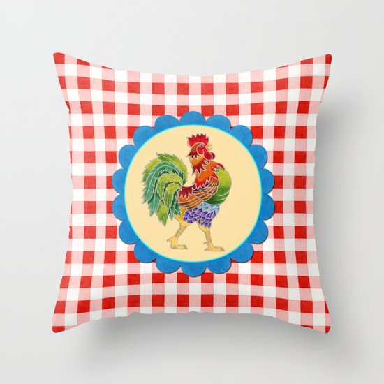 Rise and Shine Rooster Throw Pillow