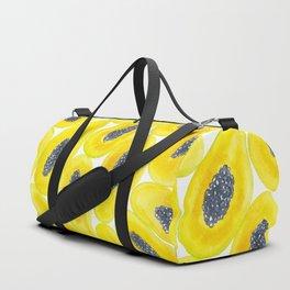 Papaya slices watercolor Duffle Bag