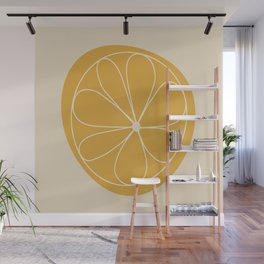 Daisy Line Abstract - Golden Yellow Wall Mural