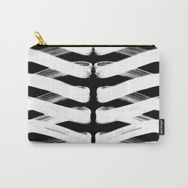 Zigzag white Carry-All Pouch