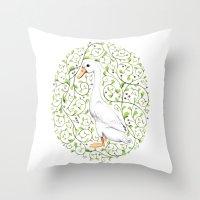 duck Throw Pillows featuring Duck by Erik Krenz