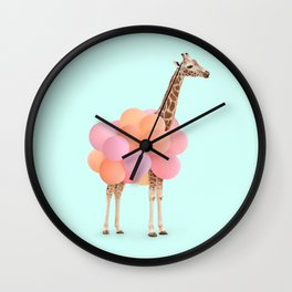GIRAFFE PARTY Wall Clock