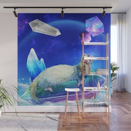 Ferret in the Sky with Crystals Wall Mural