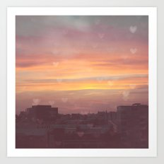 Sunset in the City Art Print