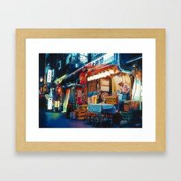 By Lantern Light Framed Art Print
