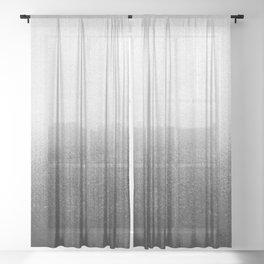 BLUR / abyss / black Sheer Curtain