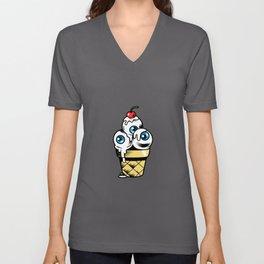 Sundae Lover Gift Idea Design Motif Unisex V-Neck