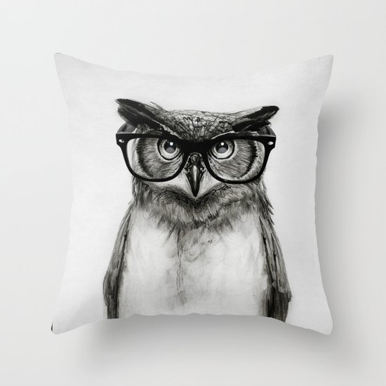 Mr. Owl Throw Pillow