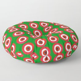 Christmas Evil Eye Floor Pillow