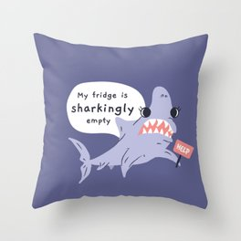 Shark-ing Throw Pillow