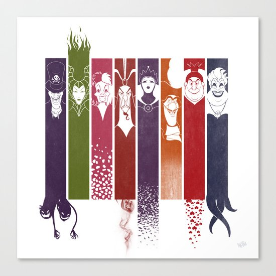 Disney Villains Canvas Print