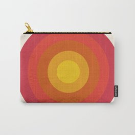 Right On - retro throwback 70s 1970s bullseye beach 70's vibes minimal art by Seventy Eight Carry-All Pouch
