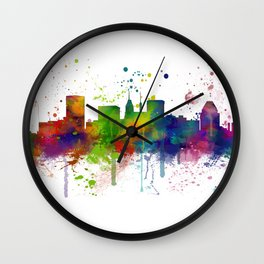 Baltimore Skyline Wall Clock