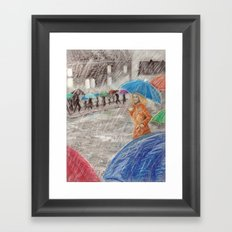 Rainy Days in Normandy Framed Art Print