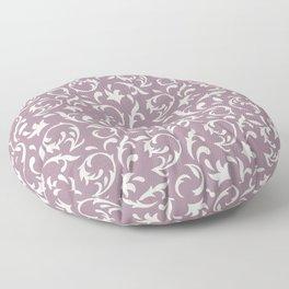 Decorative Pattern in Light Lavender an Cream Floor Pillow
