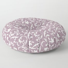 Decorative Pattern in Light Lavender an Cream Floor Pillow