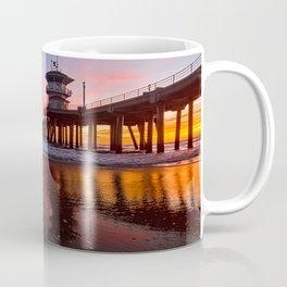 HB Sunsets  3-21-16 - Sunset At The Huntington Beach Pier Coffee Mug