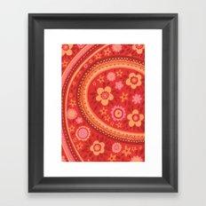 Bright Red Flowers Framed Art Print
