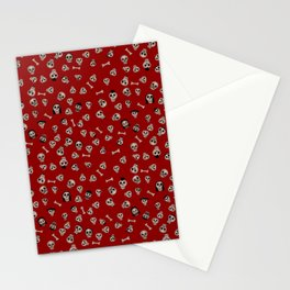 Skull Town (on Hell-Fire Red Background) Stationery Cards