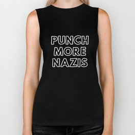 Punch More Nazis Biker Tank